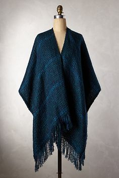 Houndstooth Boucle Poncho - anthropologie.com