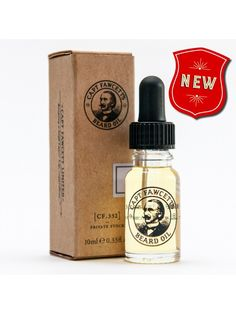 """Aceite para Barba """"Captain Fawcett's (CF.332) Private Stock Beard Oil"""" (10ml) hecho con aceites de almendra dulce y jojoba que hidratan, calman y tonifican tu barba y piel."""