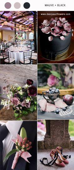 mauve and black wedding color ideas