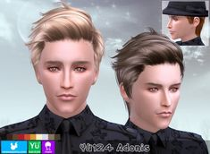 YU124 Adonis hair (Pay) at Newsea Sims 4 • Sims 4 Updates