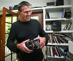 NIMOY actor author and art lover Photos of him and his house in Bel Air September 14 2002 Photo of Leonard Nimoy inside his studio holding his first...