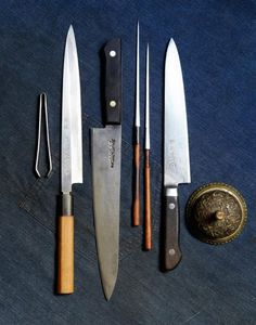 Japanese kitchen knives, made by people who consider them to be an art form.