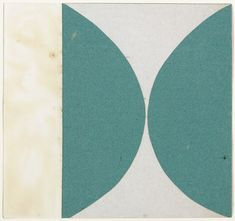 Ellsworth Kelly. Green Curves from the series Line Form Color. 1951
