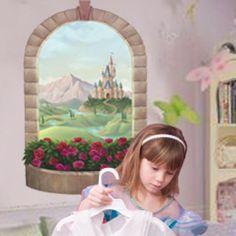 Princess Castle Window Wall Mural