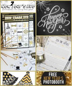 7 New Year's Eve Printables to use this year!  Get them for free at Capturing-Joy.com!