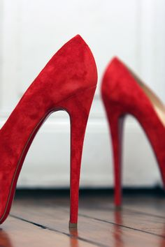 Christian Louboutin red suede
