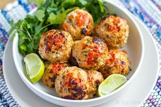 Baked Spicy Turkey Meatballs With Zucchini