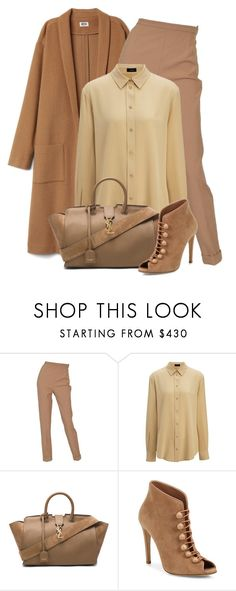"""""""Untitled #1720"""" by ebramos ❤ liked on Polyvore featuring Hermès, Joseph, Yves Saint Laurent and Gianvito Rossi"""