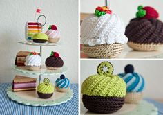 Yummy chrochet cupcakes <3