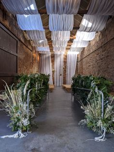 Aisle decor at Kinkell Byre including a wonderful mix of greenery and dried flowers and foliage Wedding Ceremony, Wedding Day, Narcissus Flower, Layout, Dried Flowers, Special Day, Greenery, Wedding Flowers, Wedding Decorations