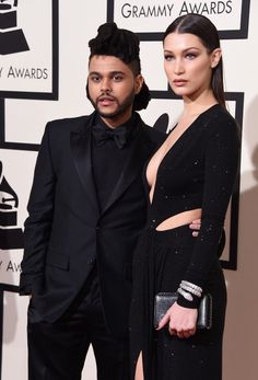 The Weeknd and Bella Hadid at the Grammys Awards 2016