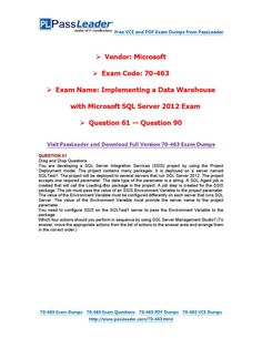 70-463 Exam Dumps with PDF and VCE Download (61-90) Microsoft Sql Server, Pdf, Coding, How To Plan, This Or That Questions, Programming