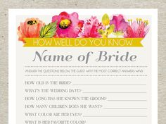 50 best personalized bridal shower games images on pinterest bridal shower game bridal shower games spring summer flowers floral solutioingenieria Gallery