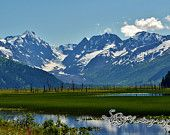 Alaskan mountain scenery I took while driving to Anchorage