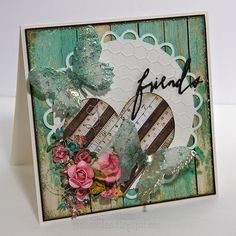 Sizzix Inspiration | Friends Card by Jan Hobbins