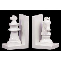With this assortment of bookends you can show your love to chess. These bookends feature two chess pieces knight and rook. These are made up of ceramic and is w Home Decor Accessories, Decorative Accessories, Urban Trends, Ceramics Projects, Chess Pieces, Rook, Luxury Home Decor, Home Decor Outlet, Accent Pieces