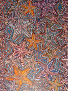 In love witht he colors and motif.  (needs some urchins!!)  Aboriginal Art