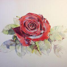 Цвета получились насыщенными. Совсем по-осеннему... #рисую_все_что_вижу…