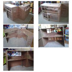 Une caserne de pompier partir d 39 une table de chevet - Construire une table de chevet ...