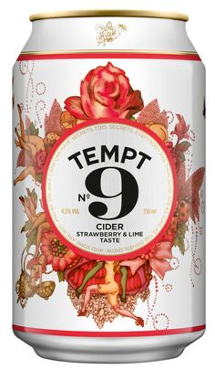 { Cider can label }