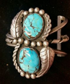 Silver turquoise cuff  $250