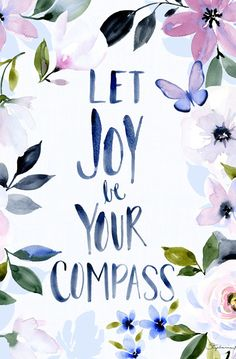 Art Print Hydrangea and Let Joy be your Compass – Lovely Clusters