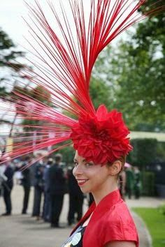 All the fashion from Ladies Day at Royal Ascot 2014 (© Rex Features) Funky Hats, Crazy Hats, Red Hats, Fascinator Hats, Fascinators, Headpieces, Races Fashion, Fashion Hats, Royal Ascot Hats