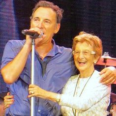 Bruce Springsteen with his mom