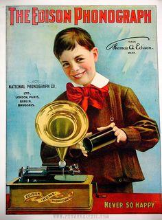 El fonógrafo de Edison cumple 137 años
