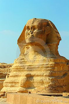 Famous egypt sphinx in Giza