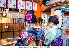#japanese #japan #girl #dress #colorful #kimono #pray #religion #spirituality #shrine