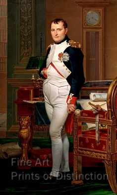 Napoleon in his Study at Tuileries by David Jacques Louis Art Print National Gallery Of Art, National Art, Art Gallery, Carolina Herrera, Jacque Louis David, Jl David, World History, Art History, History Posters