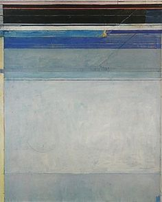 Ocean Park No. 49 by Richard Diebenkorn is part of his highly acclaimed Ocean Park Paintings. Richard Diebenkorn, Abstract Landscape Painting, Landscape Paintings, Abstract Art, Robert Motherwell, Camille Pissarro, Paul Gauguin, Cy Twombly, Gerhard Richter