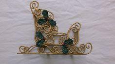 brass sleigh centerpiece