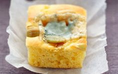 Corn bread with blue cheese. Use extra blue cheese.