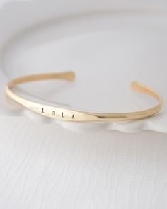 Brass Name Bangle Bracelet