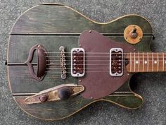 Guitar Body, Music Guitar, Cool Guitar, Custom Electric Guitars, Custom Guitars, Homemade Instruments, Telecaster Guitar, Unique Guitars, Cigar Box Guitar