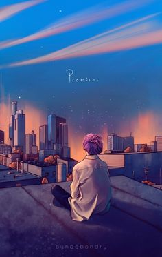 Even if you feel like you're alone Don't throw yourself away ✨ Jimin Fanart, Kpop Fanart, Anime Scenery Wallpaper, Aesthetic Pastel Wallpaper, Aesthetic Wallpapers, Bts Wallpaper Lyrics, Bts Aesthetic Pictures, Bts Drawings, Bts Chibi