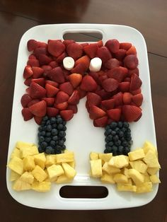 "Mickey Mouse party- ""Mickey's pants"" fruit tray"