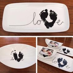 Hand And Foot Print Love Sign Is Super Cute