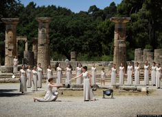 Olympic Flame - Ancient Olympia - GREECE!!!!!!!