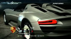 Need For Speed Hot Pursuit- Cars- Porche 918 Spyder