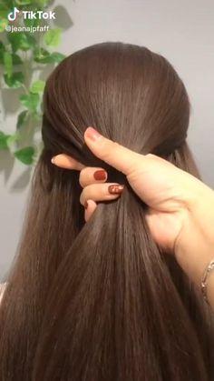 Hairdo For Long Hair, Long Hair Video, Bun Hairstyles For Long Hair, Braided Hairstyles, Party Hairstyles, Front Hair Styles, Medium Hair Styles, Hair Style Vedio, Hair Tutorials For Medium Hair