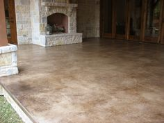 Take A Look At This Patio Concrete Stain Solcrete Acid Stained