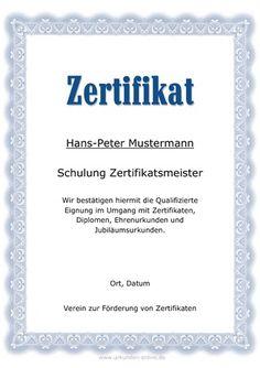 kostenlose blanko urkunde downloaden | Urkunden | Pinterest ...