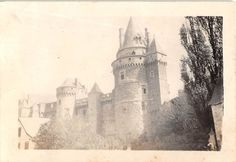 Photograph Snapshot Vintage Black and White Castle Tower Roof Grounds 1940'S | eBay