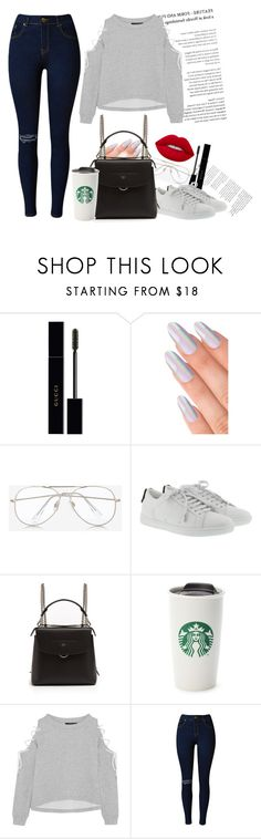 """✨C o f f e e👽"" by taaniia on Polyvore featuring moda, Gucci, Express, Yves Saint Laurent, Fendi, W118 by Walter Baker y Lime Crime"