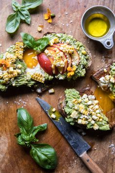 Grilled Corn and Feta Egg in a Hole Avocado Toast | halfbakedharvest.com @hbharvest