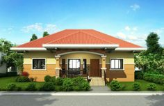 Pinoy House Design 2015002 is a one storey house design with a floor area of 148 m². An elegant entry enhances an inviting front porch on this traditional design.