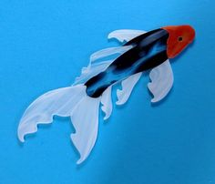 Butterfly koi fish precut stained glass kit mosaic inlay for Koi fish pool table